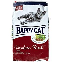 nur f r amazon prime mitglieder 10 kg happy cat katzen trockenfutter adult voralpen rind f r 16. Black Bedroom Furniture Sets. Home Design Ideas