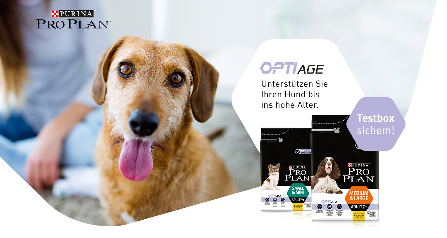 gratis purina pro plan optiage testbox f r hunde bis oder. Black Bedroom Furniture Sets. Home Design Ideas