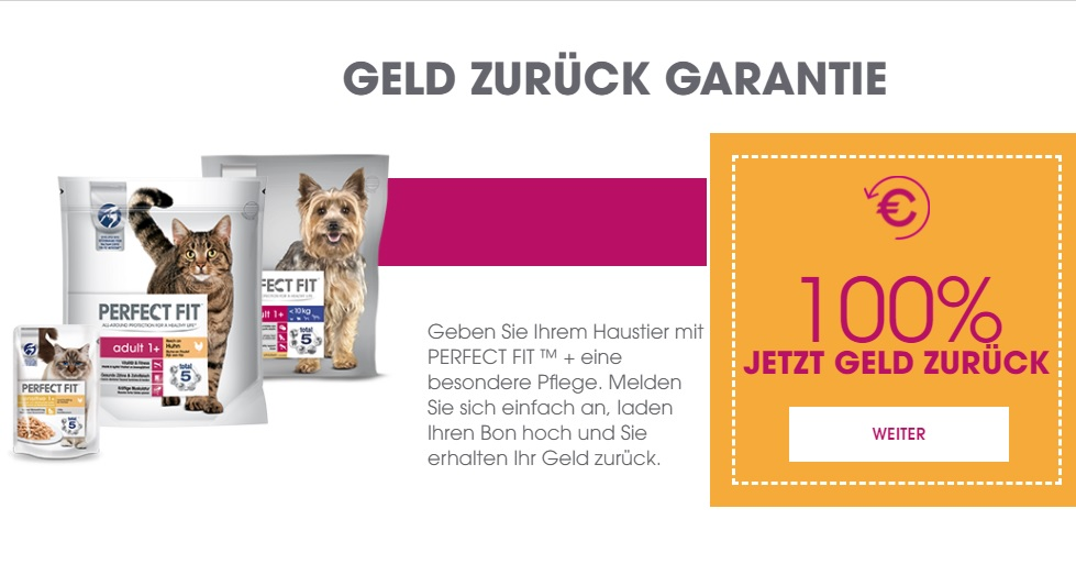 perfect fit 1 4 kg hunde trockenfutter oder 750 g katzen. Black Bedroom Furniture Sets. Home Design Ideas