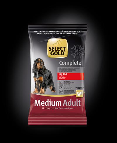 gratis hundefutter probe select gold complete rind f r payback kunden. Black Bedroom Furniture Sets. Home Design Ideas