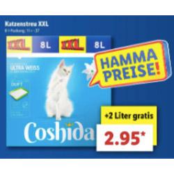Lidl Ab Donnerstag Coshida Katzenstreu 8 Liter 6 2 Liter
